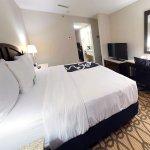 Queen suite sleeping area