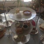 Ivy's Afternoon Tea. Bottom layer is little sandwich pieces $21.95