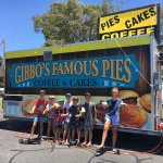 Great pies , sausage rolls and pastries made the traditional way from Gibbo's food van out the f