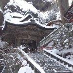 雪化粧の双龍門