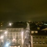 Rainy night at SESTO on Arno Restaurant and Bar, on the rooftop of the Westin Excelsior
