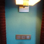 This picture is to show you the electrical outlet they have in the room.