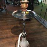 shisha in restaurant under the hotel