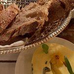 Warm basket of bread