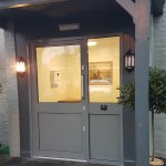 New entrance door to the Mews building