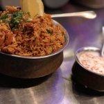 Chicken Biryani with serve of Dahi