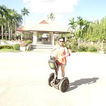 Easy to control the Segway when riding.