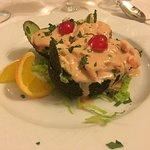 Avokado with schrimps