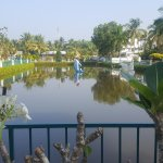 Small lake & garden front of resort