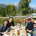 Dornan's Chuckwagon - picnic table dining, what a view !!!