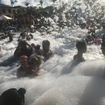 Every week they have a foam party in one of the pools