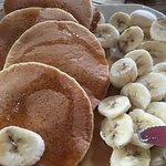 Vegan banana pancakes!