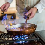 Crepes Suzette flambiert