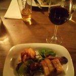 Fabulous tasty starters... garlic mushrooms and pork