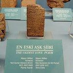 A cuneiform tablet of the oldest love poem!