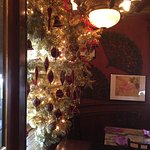 The upside down Christmas tree in the dining area. :)