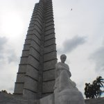 ...the awesome statue of the apostle of the Cuban Revolution