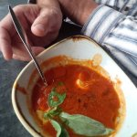 This is their amazing tomato soup.. I always order that, so I cannot comment on the other food,