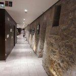 couloir vers réception