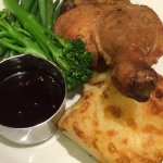 Duck and cranberry sauce