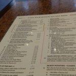 The menu, bring a fat wallet !