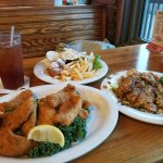 cajun fried and blackened fresh catch