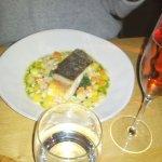 Roast Darne of Cod grain mustard, winter vegetable stew, parsley dressing