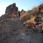 Trail is rocky