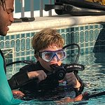 training for the first SCUBA dive!
