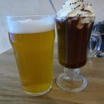 Beer and After Eight hot drink