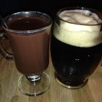 After Eight hot drink and Kozel beer