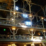 Old Faithful Inn - view of multiple floors from the lobby/lounge