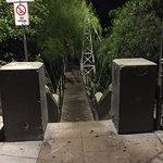 Spruce St. ped bridge