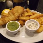 My fish and chips.