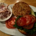 Veggie Burger with Cole Slaw