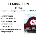 They have a new bigger location at 2217 W. Ferguson Rd.