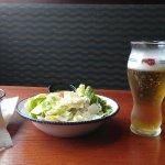 Garlic Buscuits, House Ceasar Salad, Stella Artois Lager