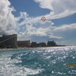 Parasailing off off Cabbage Beach!