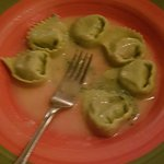 8 pieces of tortellini and 0 presentation