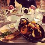 Fish Stew and Loch Fyne Salmon