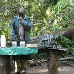 alcoholic coffee stop on walk through rain forest