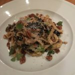 Pasta with good ol' Southern bacon, pecans & cabbage