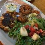 Outstanding Crab cake and Shrimp.