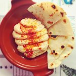 Homemade hummus and warm flatbreads