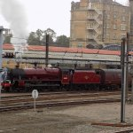 We even had the privilege to see a real steam engine leave York Station