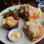 Delicious crab sandwich