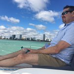 Comfortable seats on the bow for watching Miami glide by.