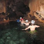 You will be in water for more than half of the cave tour. Not my photo.