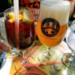Local beers (From the Ile d'Orleans) and home made Sangria