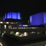 Nighttime view of National Theatre. Lovely.